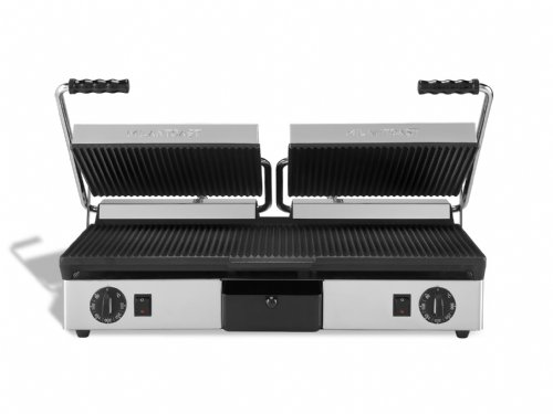 Maestrowave MEMT16050XNS Ribbed top and bottom non-stick plates